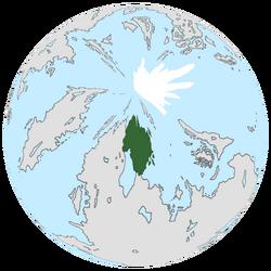 Location of Patriae on the globe.