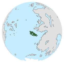 Location of Kerwan on the globe.