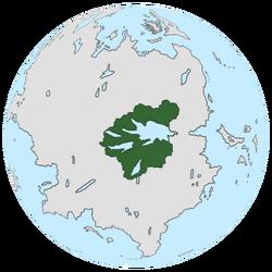 Location of Delinia on the globe.