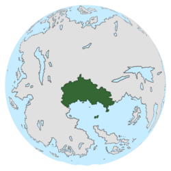 Location of Demacia on the globe.