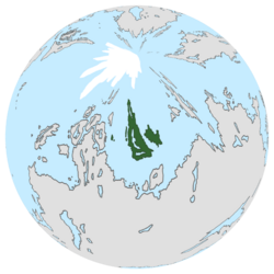Location of Gallifrey on the globe.