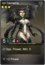 Demetria card level 3