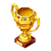 Gold Paper Trophy