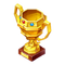 Gold Paper Trophy