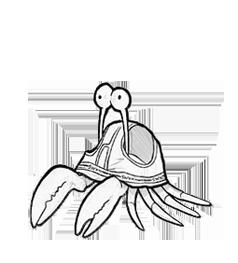 Briefs full of crab