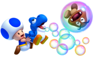 Baby Blue Yoshi and Blue Toad MarioWiiU