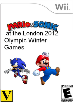 Mario and Sonic at the London Olympic Winter Games Box