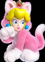 Cat Princess Peach Artwork - Super Mario 3D World