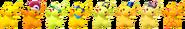 SSBRiot Pikachu Color Palettes