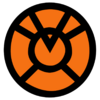 Orange lantern corps symbol fill by mr droy-d613gtb