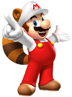 Fire Raccoon Mario