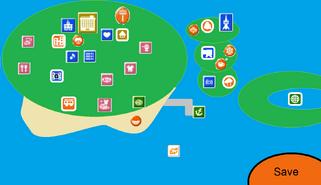 Tomodachi New Life Map Screen