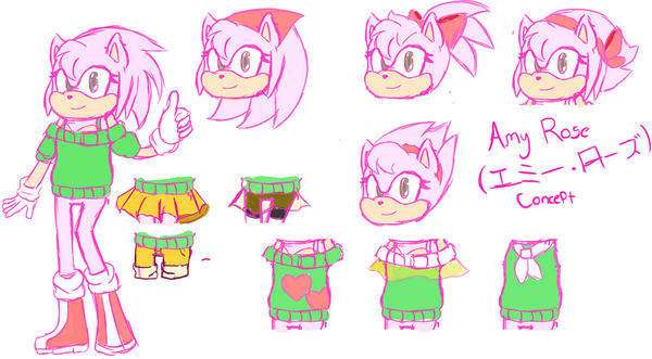 Amy Rose= Fighter Concept Art