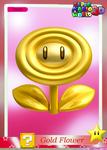 SMW3D GoldFlowerTradingCard