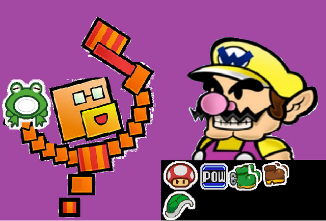 File:Paper Wario at the Sticker Selling Stage.png