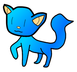 Cyan blue cat adopt thing