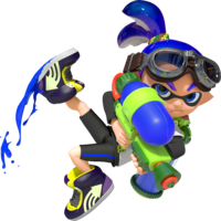 A male Inkling ready for battle