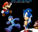 Mario Sonic and Megaman