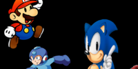 Mario, Sonic, and Mega Man at the Winter Olympic Games