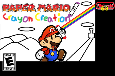 Paper Mario Crayon Creation
