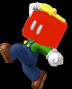 Luigi with a Propeller Block