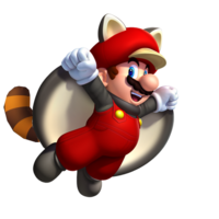 Raccoon flying squirrel mario