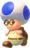 Blue Toad with Glasses