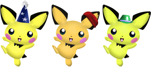 File:Pichu Alternates by wilt b.png