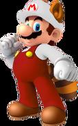 Fiery Raccoon Mario