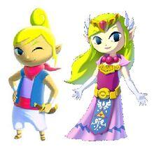 Tetra and Toon Zelda