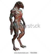 Stock-photo--d-alien-monster-with-sharp-beak-and-clawed-hands-79523968