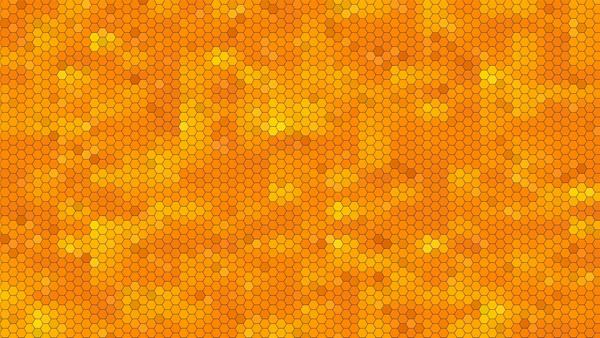 Abstract-Yellow-Orange-Hexagon-Pattern