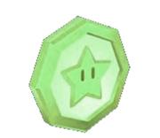 Green coin stars