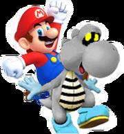 Dry Yoshi with Mario