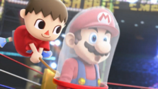 Villager Getting Mario Trailer SSB4