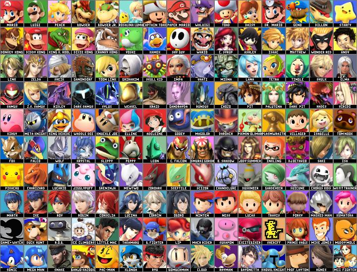 Super Smash Bros. Golden Eclipse (4) Roster