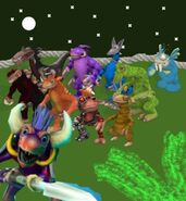Spore Party Characters