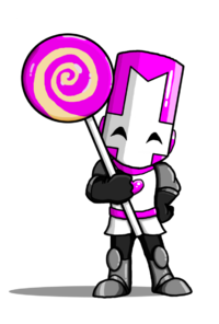 Castle crashers pink knight by angryoldbat-d6qyx9s