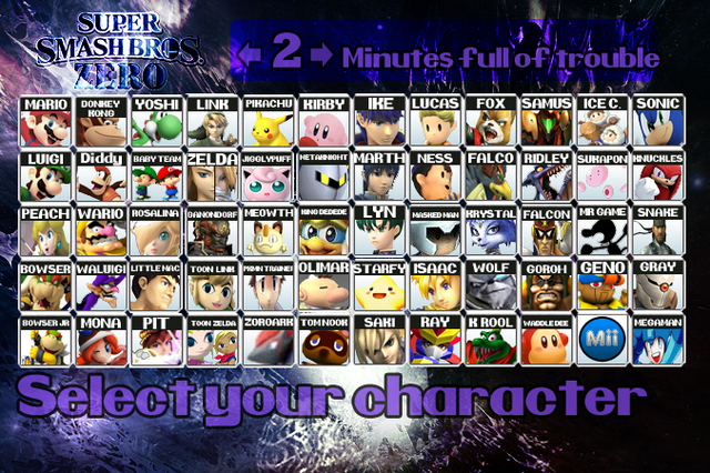 File:SSBZRoster.png