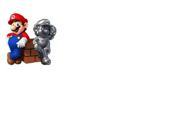 File:Mario & Metal Mario Leaning On Brick Block.JPG