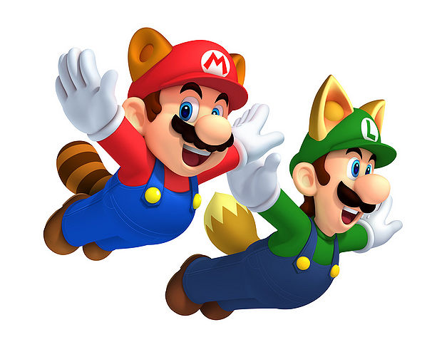 File:OFFICIAL RACCOON MARIO AND FOX LUIGI.png