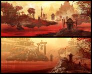 Far Cry 4 Concept Art Kay Huang chapter3 temple-reveal 00-680x547