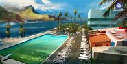 Farcry3 early-concept hotel-pool2 scrapped-idea