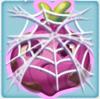 Onion grumpy under cobweb