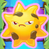 Sun grumpy on slime and bridge