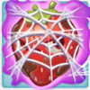 Strawberry grumpy under cobweb on slime