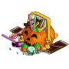 Spookily swelling Halloween Basket