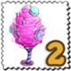 Purple Cotton Candy Tree Stamp-icon