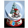 Teddy Bear Snow Globe-icon