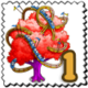Red Coaster Tree Stamp-icon